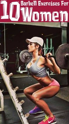 Top 10 Barbell Exercises For Women - Diet, Exercise & Health - Lifting Motivation, Fitness Motivation, Fitness Quotes, Fitness Life, Health Fitness, Lose Stomach Fat Fast, Lose Belly, Weight Loss Tablets, Body Building Men