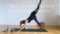 Target multiple muscle groups, increase strength, and build lean muscle with these 7 strength training exercises for women; a complete 30-minute strength training routine. #AtHomeWorkout #StrengthTraining #WorkoutforWomen