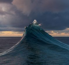 Photo: @andy_mann // While out searching for new dive sites off Selvagem Pequena Island, a remote archipelago 200 miles off the coast of Western Sahara, we observed this seemingly random wave rise from the depths and take the form of a snow-capped peak. A true sea monster which never formed the same way twice. We decided to have a look under it and quickly found an amazing sea-mount full of life. Always expect the unexpected at sea. Photographed on expedition with @natgeopristineseas, whose…