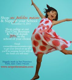 Shop & Support you School with Ses Petites Mains, November 15, 2014.