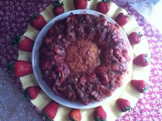 Easy Strawberry Rhubarb Upside Down Cake