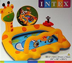 Intex Giraffe Inflatable Activity Baby Paddling Pool Age 1- 3 Years