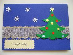Ręcznie robiona kartka świąteczna Tree Skirts, Christmas Tree, Holiday Decor, Diy, Teal Christmas Tree, Bricolage, Holiday Tree, Xmas Tree, Handyman Projects