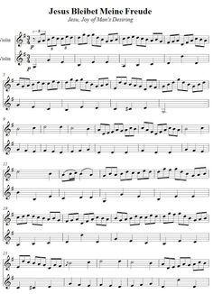 Partituras para Violino: Dueto - Jesus Alegria dos Homens
