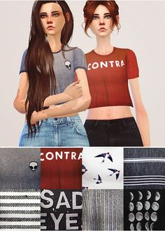 Pure Sims: Short tees • Sims 4 Downloads