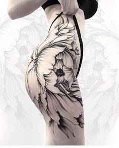 Leading Tattoo Magazine & Database, Featuring best tattoo Designs & Ideas from around the world. At TattooViral we connects the worlds best tattoo artists and fans to find the Best Tattoo Designs, Quotes, Inspirations and Ideas for women, men and couples. Thigh Tattoos, Side Tattoos, Body Art Tattoos, Unique Tattoos, Beautiful Tattoos, Cool Tattoos, Tattoo Life, Bum Tattoo, Tattoo Girls