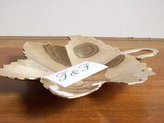 Vintage Brass Leaf Tray or Dish by tatterandfray on Etsy