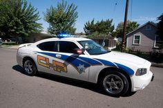 California state police car