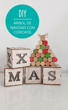 Decoracion Low Cost, Diy, Home Decor, Christmas Houses, Christmas Decor, Hair Bow Making, Wine Corks, Easy Crafts, Decoration Home