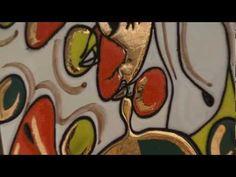 ▶ Decoración de cerámica con la técnica cuerda seca. - YouTube
