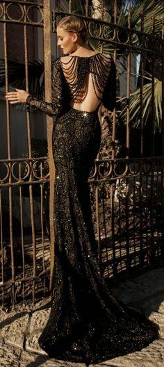 Galia Lahav black glamour gown