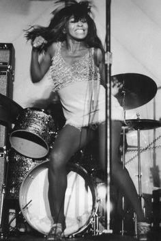 Tina Turner performing at Honka Monka Club in New York City photographed by Bob Gruen, 1970