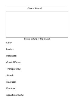 worksheet mineral identification tests with answers explained this worksheet has 15 earth. Black Bedroom Furniture Sets. Home Design Ideas