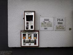 Kaugummiautomat an Hauswand