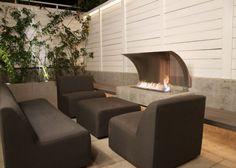 EcoSmart Fire fireplace in patio