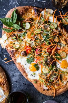Banh Mi Pizza -banh mi sauce,gooey mozz, Vietnamese meatballs...maybe even a fried egg...all on delicious naan bread dough, YES! From halfbakedharvest.com