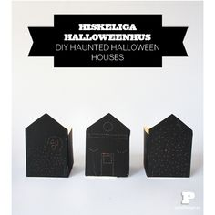 DIY haunted Halloween houses