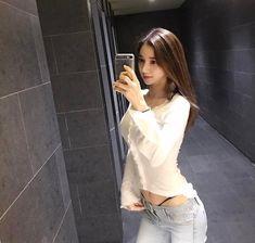 Slender Girl, Beautiful Asian Women, Girl Poses, Korean Model, Asian Woman, Blouse Designs, Asian Beauty, My Girl, Korean Fashion