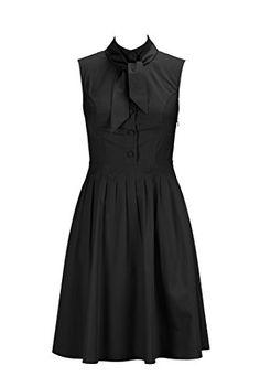 eShakti Women's Tie neck poplin dress XS-0 Regular Black eShakti http://www.amazon.com/dp/B00R6429RA/ref=cm_sw_r_pi_dp_ZUGbwb075T32K
