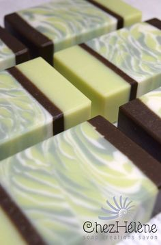 Coconut, lime & verbena handmade soap by ChezHelene