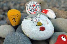 Peculiar Painted Stones Photos