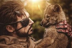 || @maul_cosplay || One of my favourite pictures of the wolf puppy shooting. DD is soooooo cute.