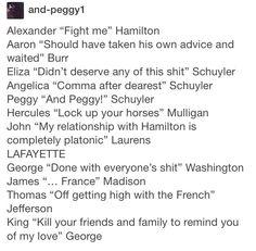 Hamilton characters
