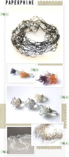 Founded in 2009 by Linda in Vienna, Austria, PaperPhine crafts some of the most beautiful and delicate paper jewelry.