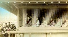 Caged Prostitutes, Meiji Era (circa 1890) - The Lowest Order of the Japanese Brothel System