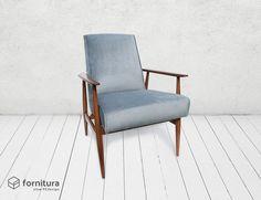 Fotel Grey Velvet - lata 60-te - Fornitura - Kanapy i fotele