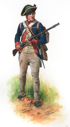 American; Delaware Infantry Regiment, 1780 by Don Troiani