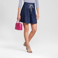 Merona Women's Denim Tie Front Skirt