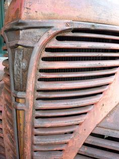 Vintage rusted truck grill