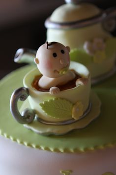 Cake Top for Tea Party Theme Baby shower I hosted :-)