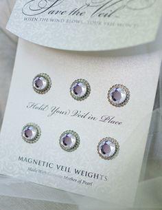 Veil Weights ~ Round Rhinestone - Veil Weights by Hair Comes the Bride
