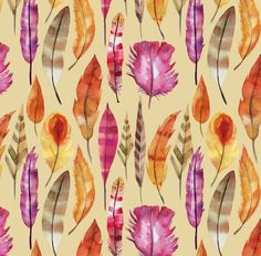 Feather Fabric - Pattern Of Indians Feathers By Holaholga - Feather Cotton Fabric By The Yard With Spoonflower. One, or more, yard(s) of Spoonflower Custom Printed Fabric. All Spoonflower fabrics are printed in Durham, North Carolina, by a merry group of fabric lovers. | eBay!