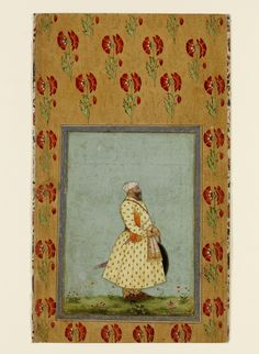 ?; 1650-1700 mughal. V&A Mughal Miniature Paintings, Mughal Paintings, Islamic Paintings, Tie Dye Crafts, Persian Calligraphy, Mughal Empire, National Art, Victoria And Albert Museum, Floral Motif