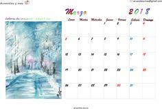 Colores de #invierno #winter esperando la #primavera #spring #March #marzo #calendario #Calendar #watercolor #acuarela #artist #artistas #draw #painting
