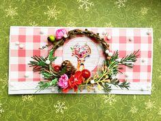 Kartka swiateczna z jeleniem Boże Narodzenie Christmas cards by KastelOfArt