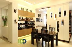 Dining room plays as a wine showroom which is extremely beautiful and convenience.