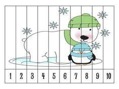 10 Grid Puzzle - Preschool Arctic Theme