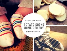 Cough Remedies Potato Socks Fever Cold Remedy Watch The Video - Feeling under the weather? Just grab a potato! This Potato Socks Fever Cold Remedy has been an Internet smash and will become your new go to! Baby Cold Remedies, Foot Remedies, Cough Remedies, Flu Cough, Natural Fever Reducer, Toddler Fever, Baby Fever, Natural Home Remedies, Plants