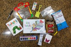 Kids Night In Box: Give Thanks - Sunshine and Munchkins Mod Podge Crafts, Glue Crafts, Easy Strawberry Pie, Applesauce Muffins, St Patrick Day Activities, Relief Society Activities, Sugar Sprinkles, Kids Up, After School Snacks