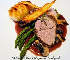 Edels Mat & Vin: Lammestek med asparges, sopp, fritert pastinakk & ... Steak, Food, Essen, Steaks, Meals, Yemek, Eten