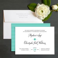 Simply Scripted Wedding Invitations by Elizabeth Victoria Designs | Elli