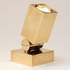 Very smart brass uplighter from Vaughan Designs £198
