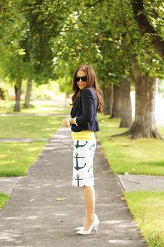 Dress Corilynn anchor pencil skirt - Apostolic Clothing Pentecostal