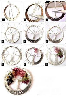 Tourmaline Tree of Life step-by-step - gnarlyhair Tourmaline Tree of Life step-by-step Schmuck im Wert von mindestens g e s c h… Looking for some DIY tree of life ideas? If you want to make art, crafts and even jewelries that are inspired with the tree Wire Crafts, Bead Crafts, Jewelry Crafts, Handmade Jewelry, Handmade Rings, Bijoux Wire Wrap, Wire Wrapped Jewelry, Wire Jewelry, Jewlery