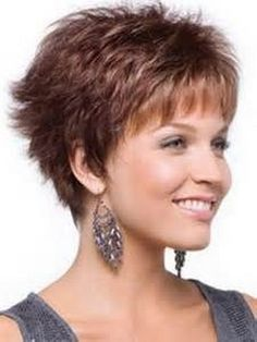 Short layered hairstyles for women over 50