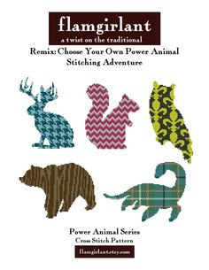 Power Animal Remix: Choose Your Own Stitching Adventure